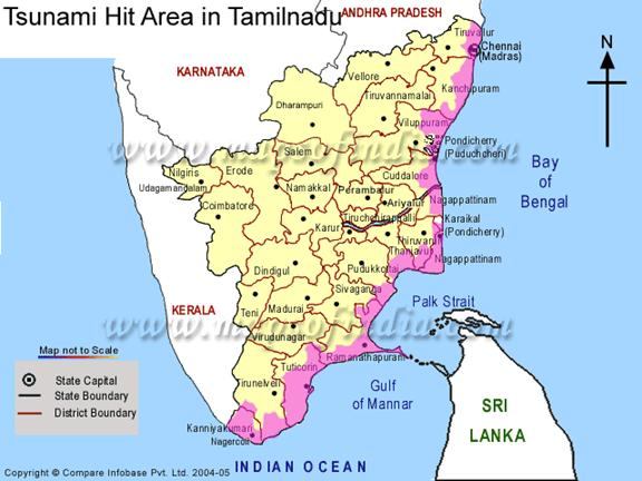 major areas disaster multi hazard prone districts of tamilnadu